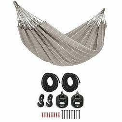 La Siesta Weather-Resistant Double Hammock, Gray | Suspensio