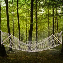 White Wood Pole Hanging Cotton Rope Hammock Bed Bedindoor Ou