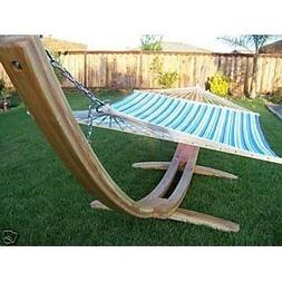 Petra Leisure 14 Ft. Natural Wooden Arc Hammock Stand + Qui