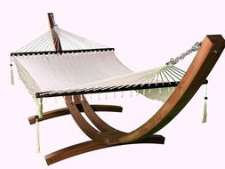 Petra Leisure 14 Ft. Wooden Arc Hammock Stand + Deluxe Hand