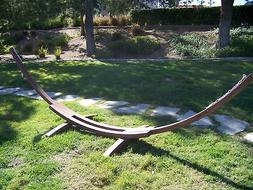 Petra Leisure 14 Ft. Wooden Arc Hammock Stand. 450 LB Capaci